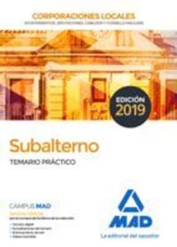 Imagen de Temario práctico Subalterno Corporaciones locales, 2019