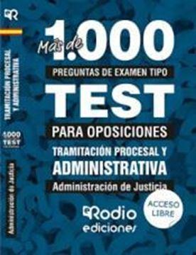 """Imagen de Más de 1000 Preguntas de Examen Tipo Test Tramitación Procesal y Administrativa 2019 """"Administración de Justicia"""""""