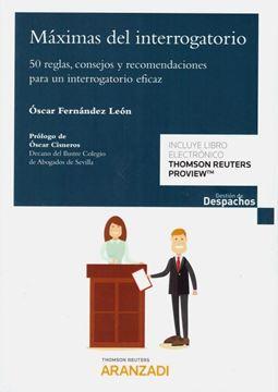 """Imagen de Máximas del interrogatorio """"50 reglas, consejos y recomendaciones para un interrogatorio eficaz"""""""
