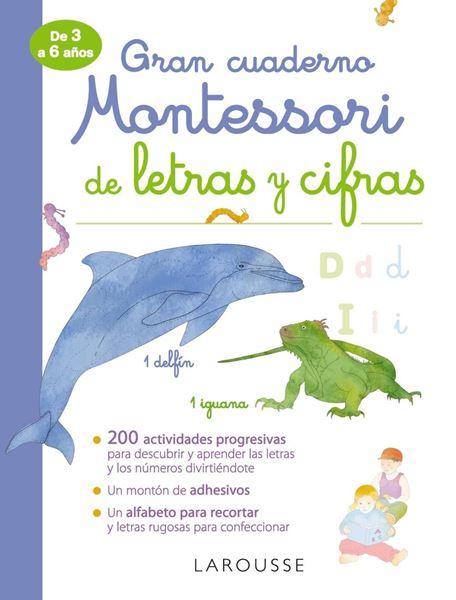 """Gran cuaderno Montessori de letras y cifras """"De 3 a 6 años"""""""