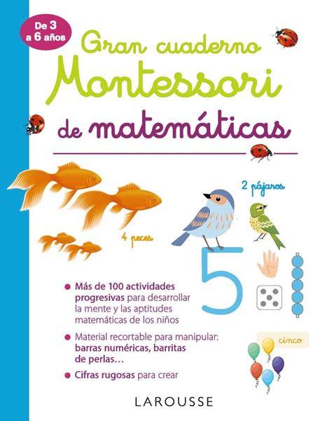 """Gran cuaderno Montessori de matemáticas """"De 3 a 6 años"""""""