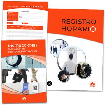 Imagen de Carpeta de Registro Horario + Instrucciones + Hojas registro
