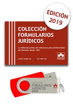 """Imagen de Colección Formularios Jurídicos 2019 (USB) """"La editorial Jurídica de referencia para profesionales del Derecho desde 1981"""""""