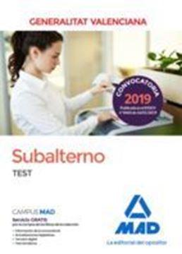 Imagen de Test Subalterno Generalitat Valenciana 2019