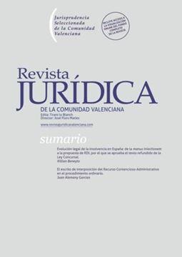 Imagen de Revista Jurídica de la Comunidad Valenciana nº 70/2019