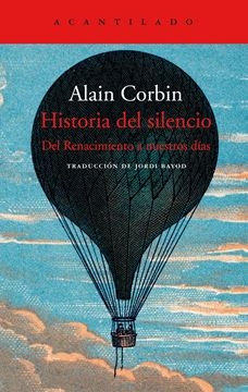 """Historia del silencio """"Premio Roger Caillois de Ensayo 2017"""""""