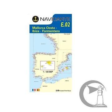 Imagen de Carta Navicarte FE02. Mallorca Oeste-Ibiza-Formentera 1: 125,000