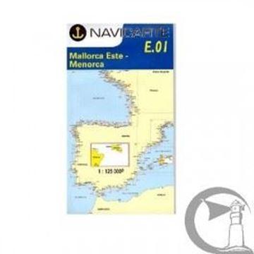 Imagen de Carta Navicarte FE01, Mallorca Este-Menorca 1: 125,000