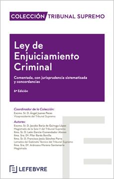 """Imagen de Ley de Enjuiciamiento Criminal 6ª Ed. 2019 """"Comentada, con jurisprudencia sistematizada y concordancias"""""""