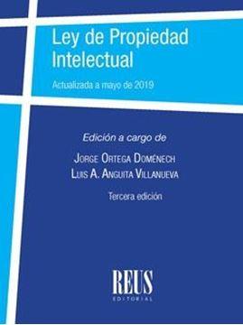 """Ley de propiedad intelectual """"Actualizada a mayo de 2019"""""""
