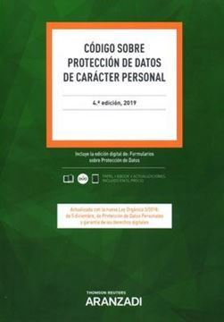 Imagen de Código sobre protección de datos de carácter personal, 4ª ed, 2019