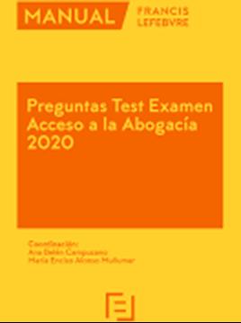 Imagen de Manual Preguntas Test Examen Acceso a la Abogacía 2020