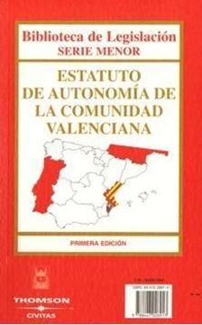 Estatuto de Autonomía de la Comunidad Valenciana = estatut d autonomia de la Comunitat Valenciana