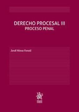 "Imagen de Derecho Procesal III, 2019 ""Proceso Penal"""