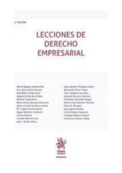 Imagen de Lecciones de Derecho Empresarial 2ª ed, 2018