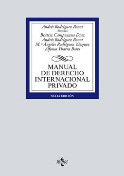 Manual de Derecho Internacional privado, 6ª ed, 2019