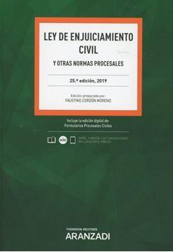 Imagen de Ley de Enjuiciamiento Civil y otras normas procesales, 25ª ed, 2019