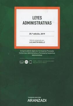 Imagen de Leyes Administrativas, 25ª ed, 2019