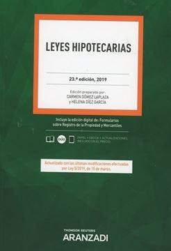 Imagen de Leyes Hipotecarias, 23ª ed, 2019