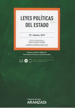 Imagen de Leyes Políticas del Estado, 37ª ed, 2019
