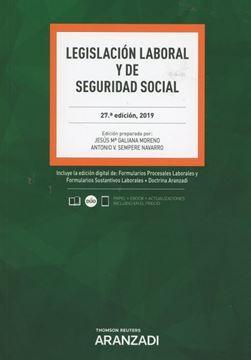 Imagen de Legislación Laboral y de Seguridad Social, 27ª ed, 2019