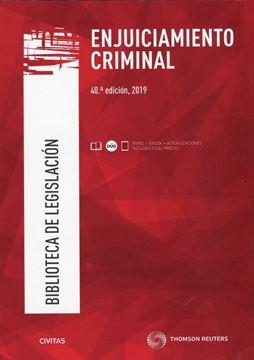Imagen de Enjuiciamiento Criminal, 40ª ed, 2019