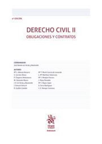 """Imagen de Derecho Civil II, 4ª ed, 2019 """"Obligaciones y Contratos"""""""