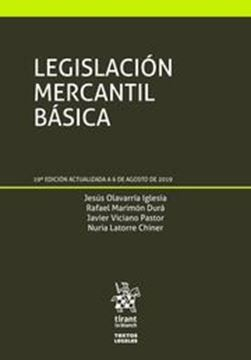 Imagen de Legislación Mercantil Básica, 19ª ed, 2019