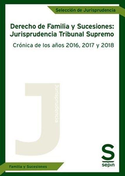 """Imagen de Derecho de Familia y Sucesiones: Jurisprudencia del Tribunal Supremo , 2019 """"Crónica de los años 2016, 2017 y 2018"""""""