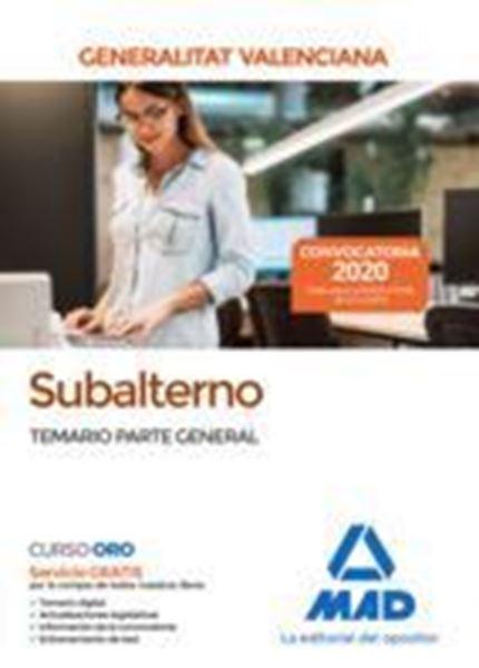 Imagen de Temario Parte General Subalterno de la Generalitat Valenciana, 2020