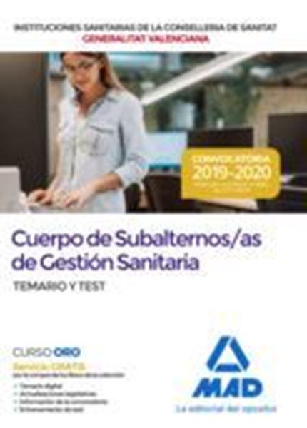 """Imagen de Subalternos/asde Gestión Sanitaria de la Administración de la Generalitat Dependientes de la Conselleria """"Temario y Test"""""""