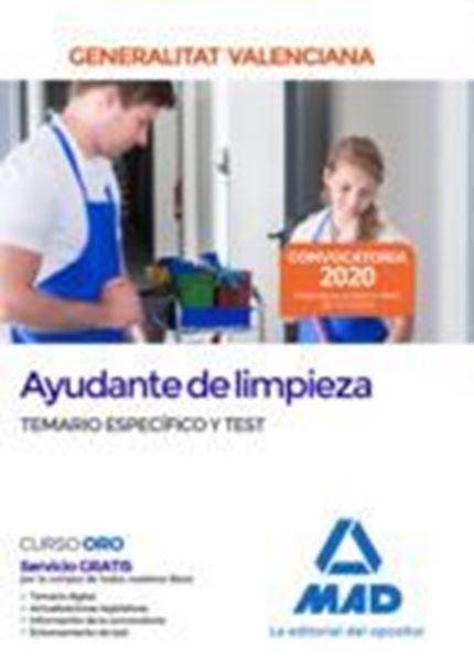 Imagen de Temario específico y Test Ayudante de limpieza Generalitat Valenciana, 2020
