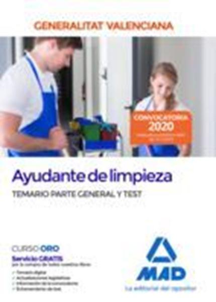 Imagen de Temario Parte General y Test Ayudantes de limpieza Generalitat Valenciana, 2020