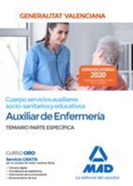 """Imagen de Temario Parte Específica Auxiliar de Enfermería Generalitat Valenciana, 2020 """"Cuerpos servicios auxiliares socio-sanitarios y educativos"""""""