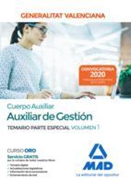 Imagen de Temario Parte Especial Volumen 1 Cuerpo Auxiliar de Gestión Generalitat Valenciana, 2020