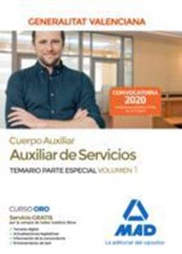 Imagen de Temario Parte Especial Volumen 1 Cuerpo Auxiliar de Servicios Generalitat Valenciana, 2020
