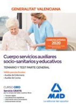 """Imagen de Temario y Test Parte General Cuerpo servicios auxiliares socio-sanitarios y educativos, 2020 """"Generalitat Valenciana"""""""