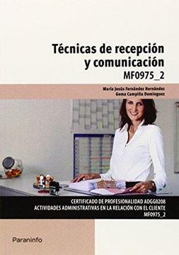 """Técnicas de recepción y comunicación """"MF0975_2 """""""