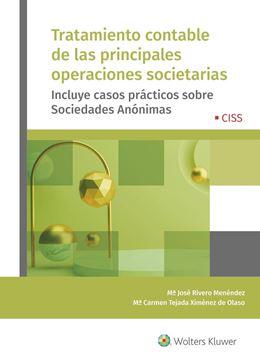"""Tratamiento contable de las principales operaciones societarias, 2020 """"Incluye casos prácticos sobre Sociedades Anónimas"""""""