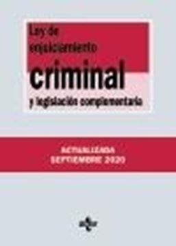 Ley de Enjuiciamiento Criminal y legislación complementaria, 37ª ed, 2020