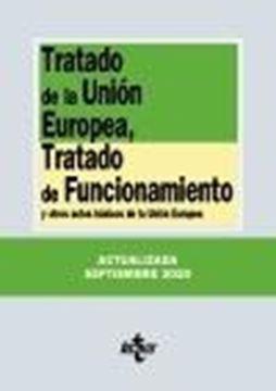 """Tratado de la Unión Europea, Tratado de Funcionamiento, 24ª ed, 2020 """"y otros actos básicos de la Unión Europea"""""""