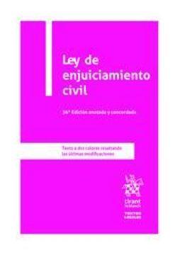 Imagen de Ley de enjuiciamiento civil, 36ª ed, 2020