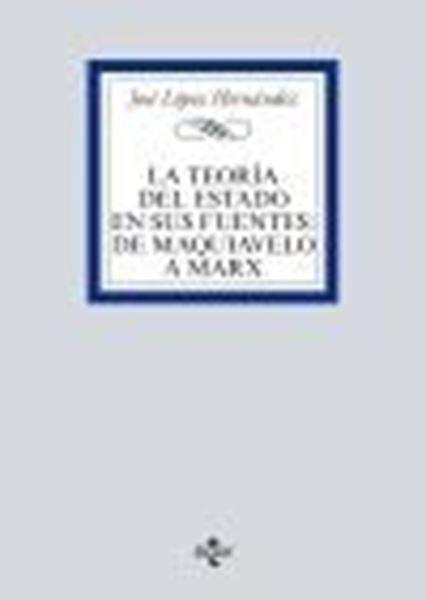 """Teoría del Estado en sus fuentes, La, 2020 """"De Maquiavelo a Marx"""""""