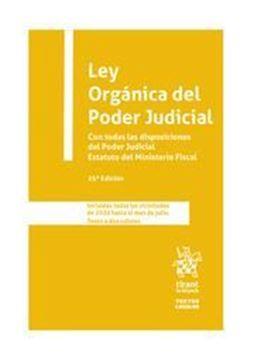 """Imagen de Ley Orgánica del Poder Judicial, 25ª ed, 2020 """"Con todas las disposiciones del Poder Judicial. Estatuto del Ministerio Fiscal"""""""