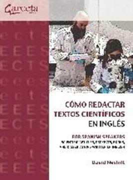 """Cómo redactar textos científicos en inglés, 2020 """"For Spanish Speakers"""""""