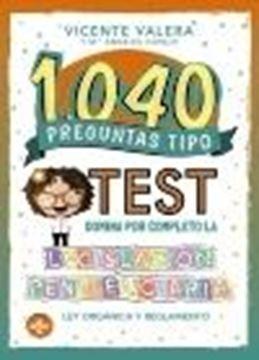 """1040 preguntas tipo test. Legislación penitenciaria, 2020 """"Ley Orgánica y reglamento"""""""