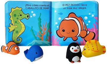 """Criaturas del mar """"Incluye 4 animalitos de goma"""""""