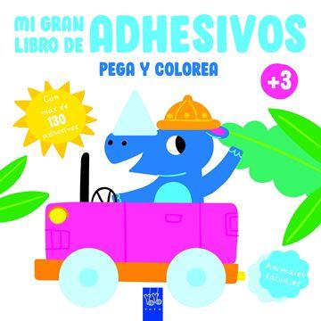 """Animales salvajes """"pega y colorea +3"""""""