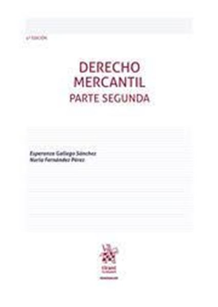 Imagen de Derecho Mercantil. Parte Segunda 4ª ed, 2021