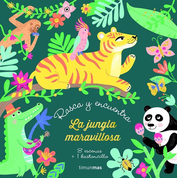 """Rasca y encuentra. La jungla maravillosa """"8 escenas + 1 bastoncillo"""""""